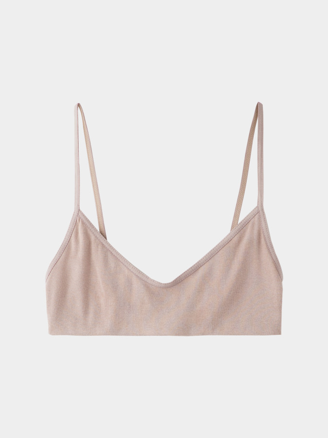 [KEnTe] Basic Cotton Bra(NUDE-S/M)
