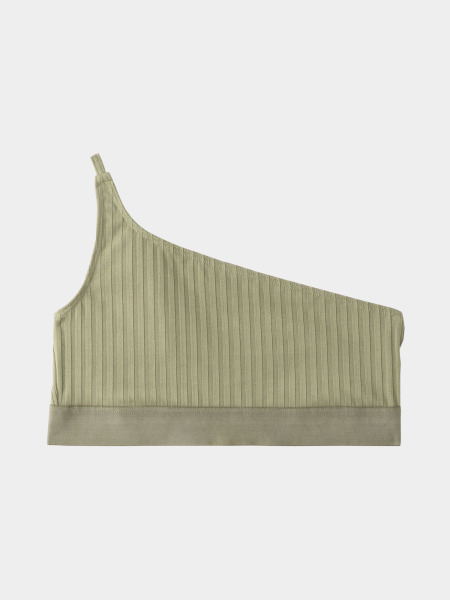 [KEnTe] One Shoulder Bra(KHAKI-S/M)