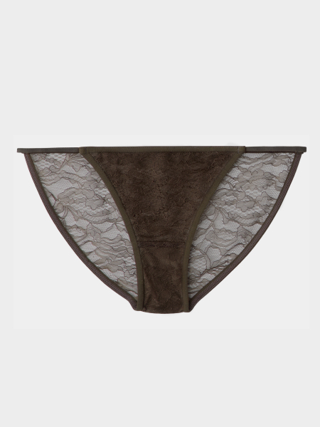 [KEnTe] Lace Fit Bottom(BROWN-S/M-ショーツ)