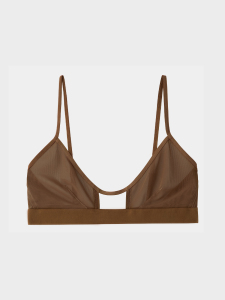 [KEnTe] Tulle Simple Bra(BROWN-S/M)