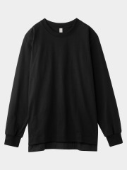[KEnTe] Basic Cotton Long Tee(BLACK-M/L)