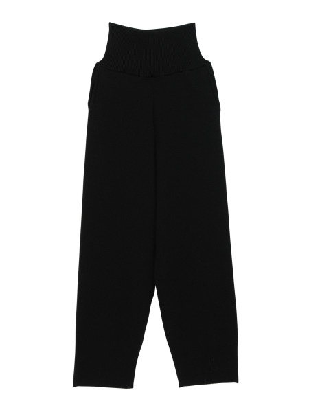 [KEnTe] Simple Cotton Knit Pants(BLACK-M)