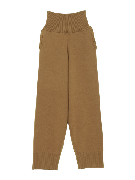 [KEnTe] Simple Cotton Knit Pants(BROWN-M)