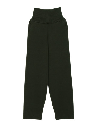 [KEnTe] Simple Cotton Knit Pants(GREEN-M)