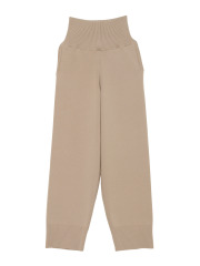 [KEnTe] Simple Cotton Knit Pants(BEIGE-M)