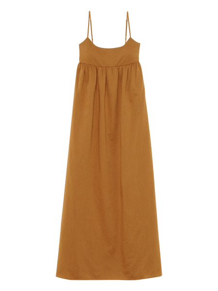 [KEnTe] Side Slit Maxi One Piece(BROWN-M)