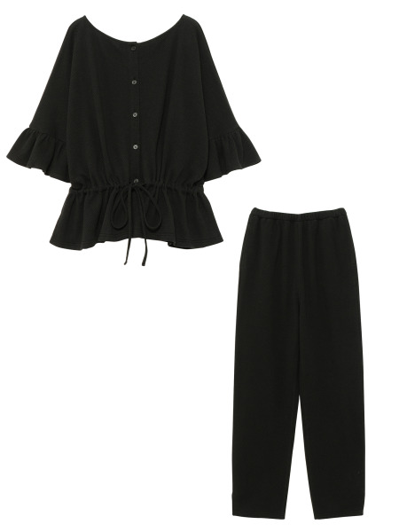[KEnTe] Cotton Frill Set Up(BLACK-M)