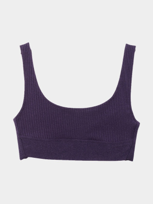 [KEnTe] Modern Ribbed Bra (9月下旬販売開始)(PURPLE-S/M)