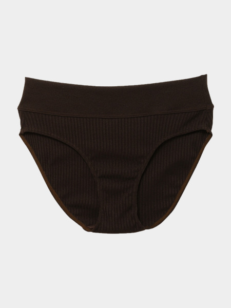 [KEnTe] Modern Ribbed Shorts(DARK BROWN-S/M)