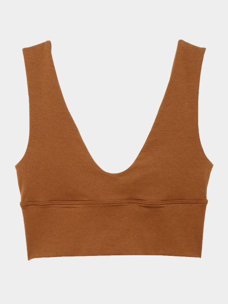 [KEnTe] Solid Tank Top Bra(BROWN-S/M)