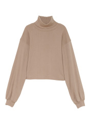 [KEnTe] Cotton Turtleneck Tops(BEIGE-M)