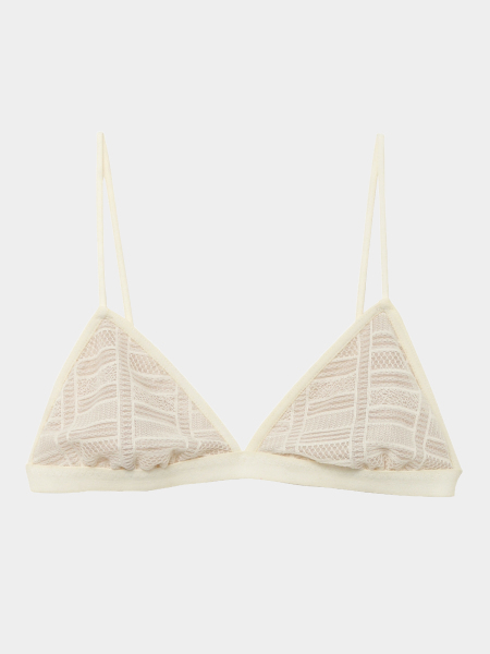 [KEnTe] Geometry Lace Fit Bra(WHITE-S/M)