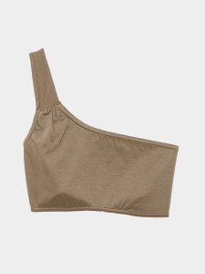 [KEnTe] Gather One Shoulder Bra(KHAKI-S/M)