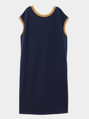 [KEnTe] Curve Line Long One Piece(NAVY-M)