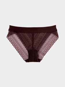 [KEnTe] Pattern Over Lace Shorts(BORDEAUX-S/M)
