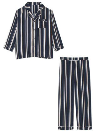 MEN'S MODE STRIPE(ネイビー-FREE)